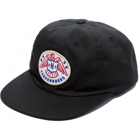 The Hundreds Malone Strapback Hat - Black