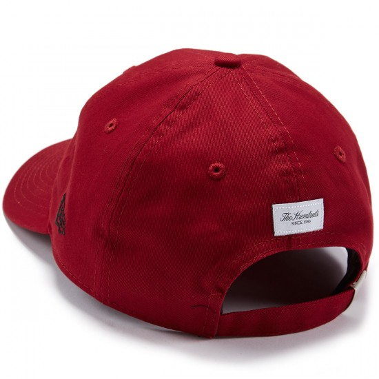 The Hundreds Maker Strapback Hat - Burgundy