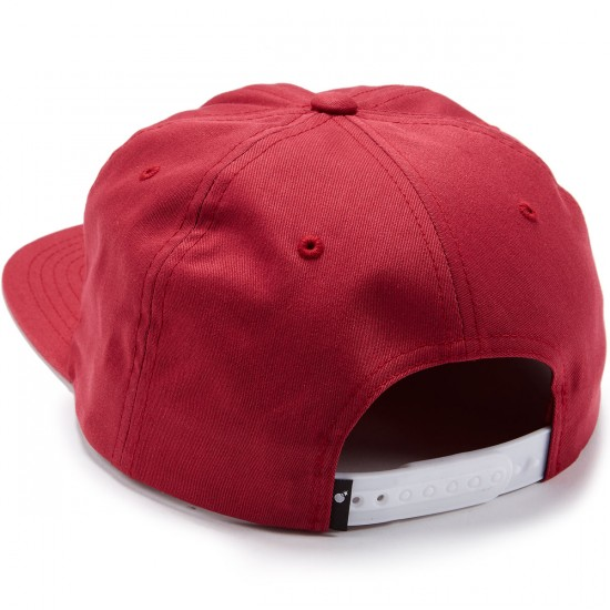 The Hundreds Script Snapback Hat - Burgundy