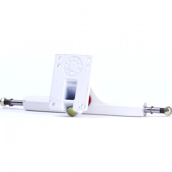 Caliber Longboard Trucks - 44 Degree - White/Gold