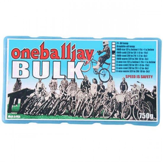One Ball Jay 4WD Bulk Snowboard Wax - Warm 750g Brick