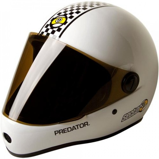Sector 9 Downhill Division Helmet - White