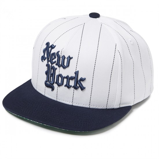 JSLV Times Square Streets Snapback Hat - White