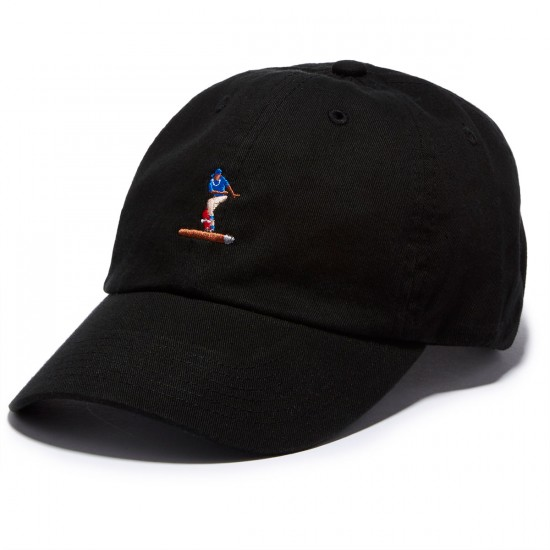 Everybody Skates Blunt Slide Embroidered Polo Hat - Black