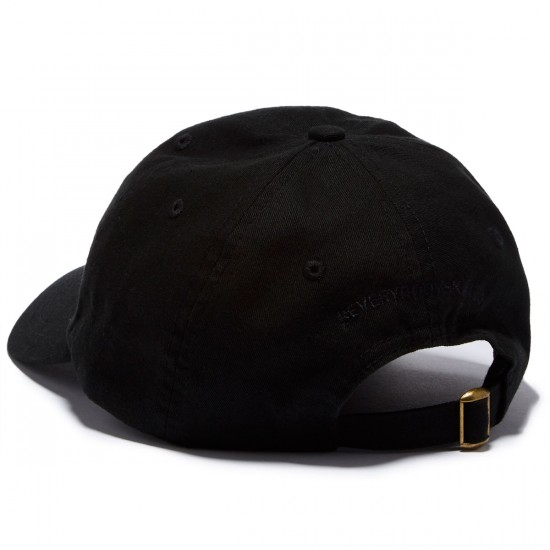 Everybody Skates Boxer Embroidered Polo Hat - Black