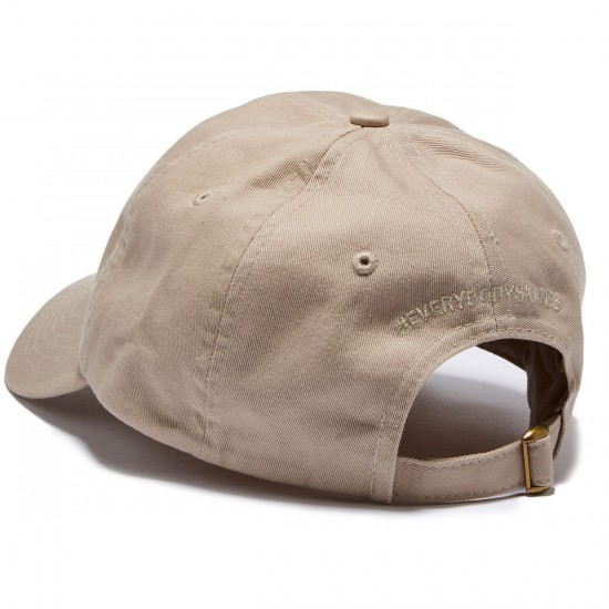 Everybody Skates Smith Grind Embroidered Polo Hat - Khaki