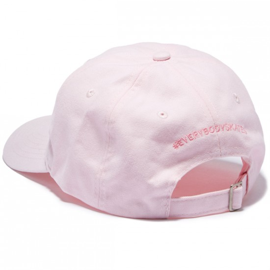 Everybody Skates Boxer Embroidered Polo Hat - Pink