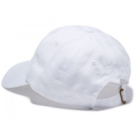 Everybody Skates Blunt Slide Embroidered Polo Hat - White