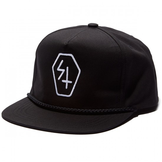 Sketchy Tank Coffin Snapback Hat - Black