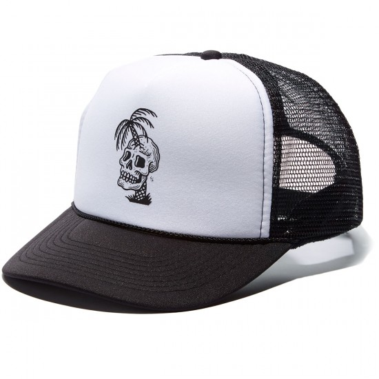 Sketchy Tank Dead Summer Foam Trucker Hat - Black/White