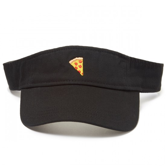Pizza Emoji Visor Hat - Black