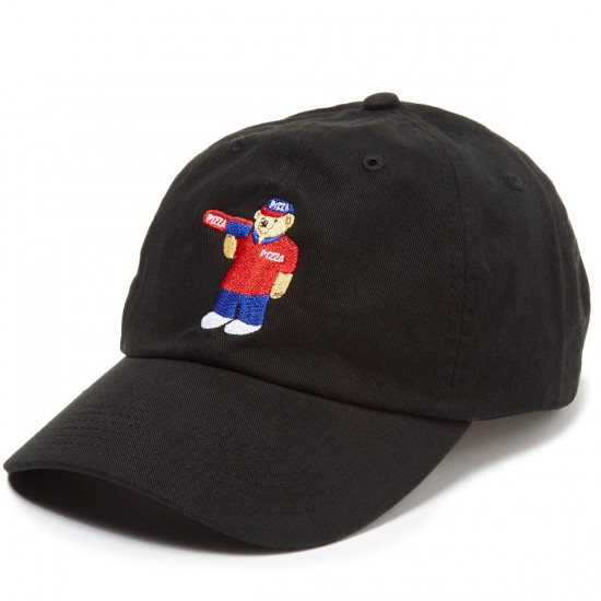 Pizza Pizza Bear Delivery Boy Hat - Black