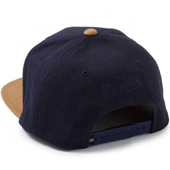 Primitive Classic P Canvas Snapback Hat - Navy