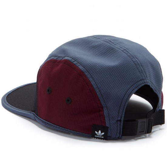 Adidas Blocked 5 Panel Hat - Black/Utility Blue/Maroon