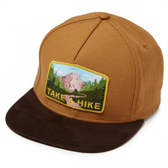 Skate Mental Take a Hike Snapback Hat - Duck Canvas/Suede Brim