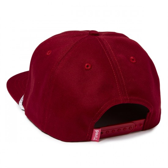Tired Bones Snapback Unstructured Hat - Burgundy Canvas