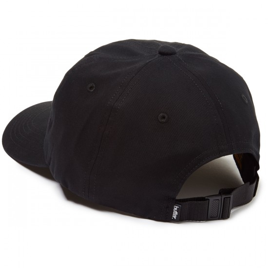 Butter Goods Rugged Terrain 6 Panel Hat - Black