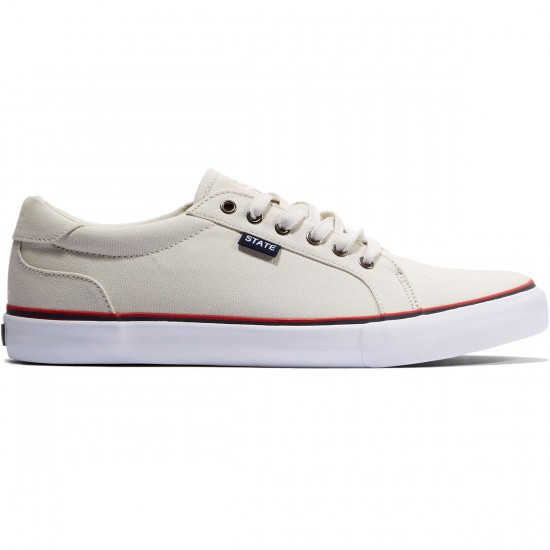 State Hudson Shoes - Cream/White Canvas - 10.0