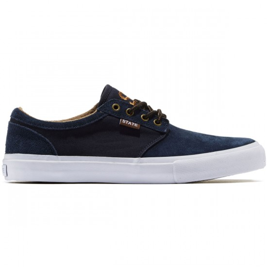 State Elgin Shoes - Navy/Brown Suede - 9.0