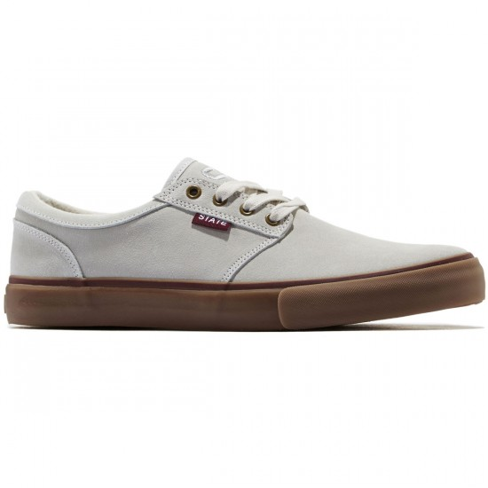 State Elgin Shoes - Cream/Burgundy Suede - 8.0