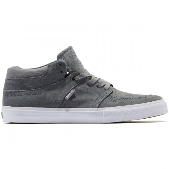 State Mercer Shoes - Mid Grey/Suede - 9.0