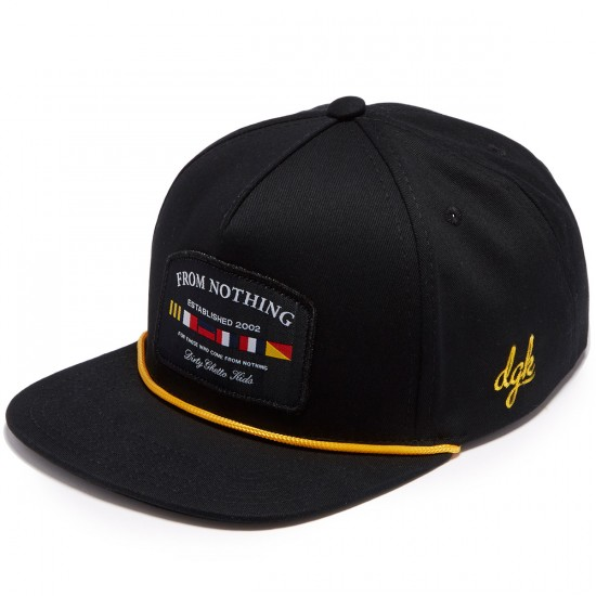 DGK Nautical Strapback Hat - Black