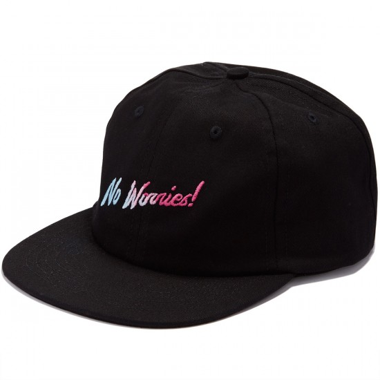Psockadelic No Worries  Hat - Black