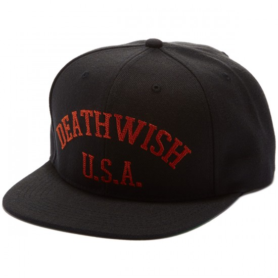 Deathwish Death Sports Snapback Hat - Black