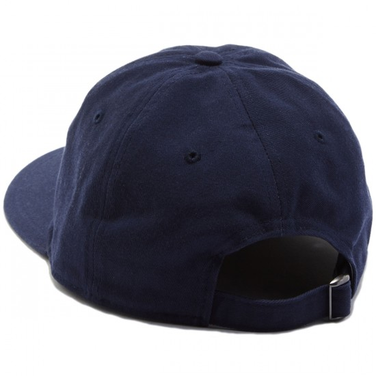 Welcome Scrawl Unstructured 6-Panel Slider Hat - Navy