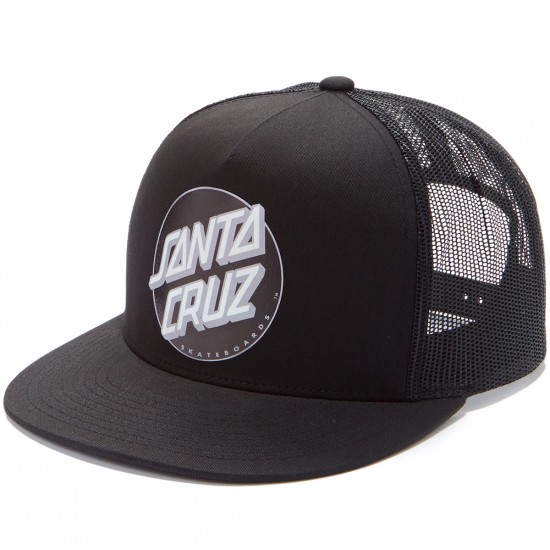 Santa Cruz Other Dot Trucker Hat - Black/Silver