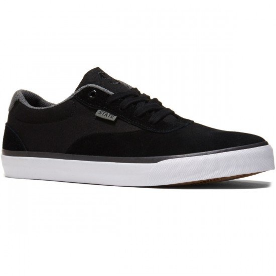 State Madison Shoes - Black/Pewter Suede - 8.0