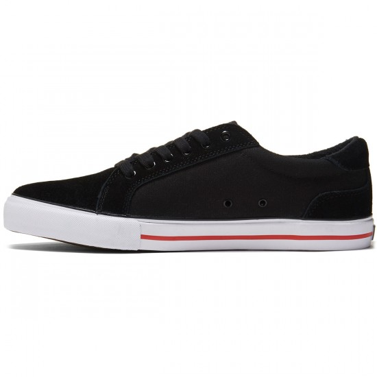 State Hudson Shoes - Black/White/Red Suede - 8.0