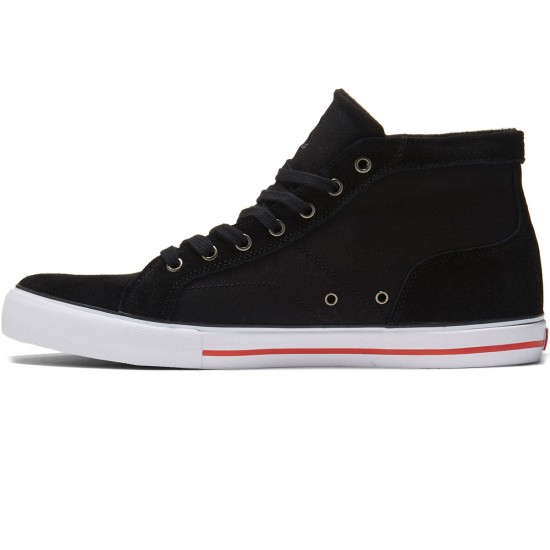 State Salem Shoes - Black/White/Red Suede - 8.0