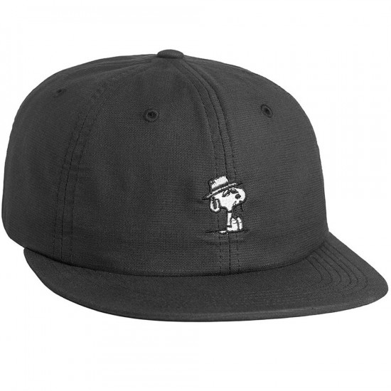 Huf X Peanuts Spike 6 Panel Hat - Black