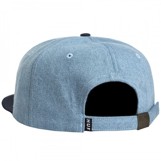 Huf X Peanuts Snoopy 6 Panel Hat - Denim/Navy
