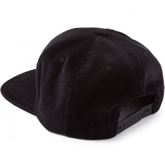 Baker Motel Snapback Hat - Black