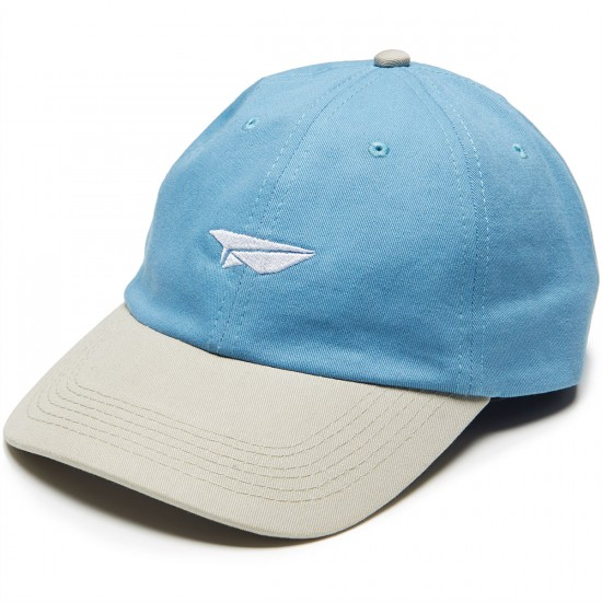 Benny Gold Paper Plane Twill Dad Hat - Sky