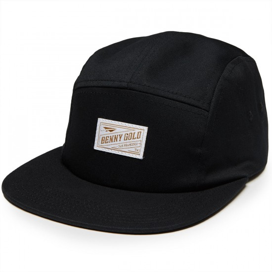 Benny Gold Stamp Twill 5panel Hat - Black