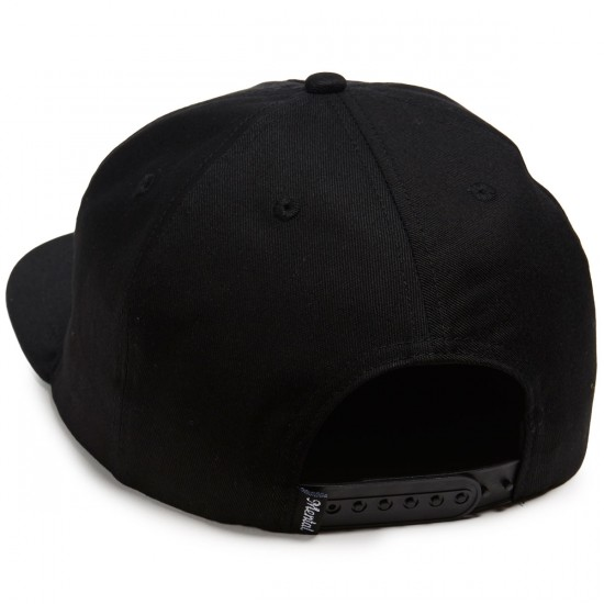 Skate Mental Script Logo Snapback Hat - Black Canvas