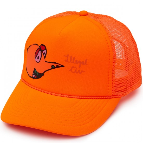 Illegal Civilization Dino Mesh Snapback Hat - Orange