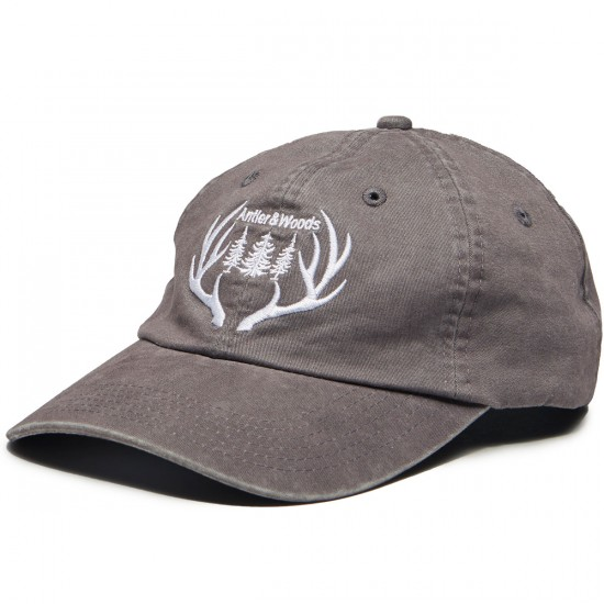 Antler And Woods Big Antler Dad Hat - Weathered Grey
