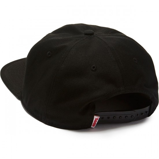 "Hopps ""H"" Unstructured Snapback Hat - Black"