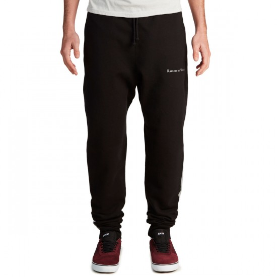 Raised By Wolves 3M Stripe Sweatpant - Black French Terry
