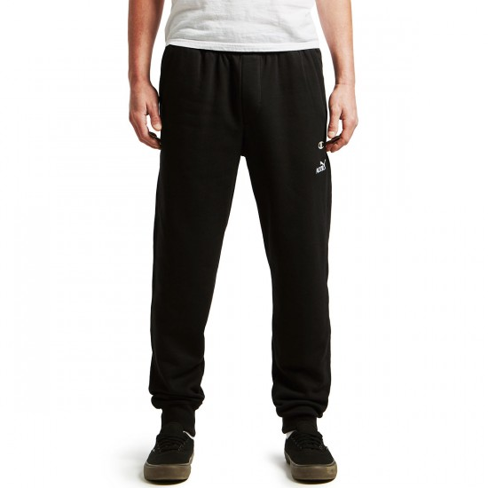 Pizza Cat Joggers Sweatpant - Black - LG