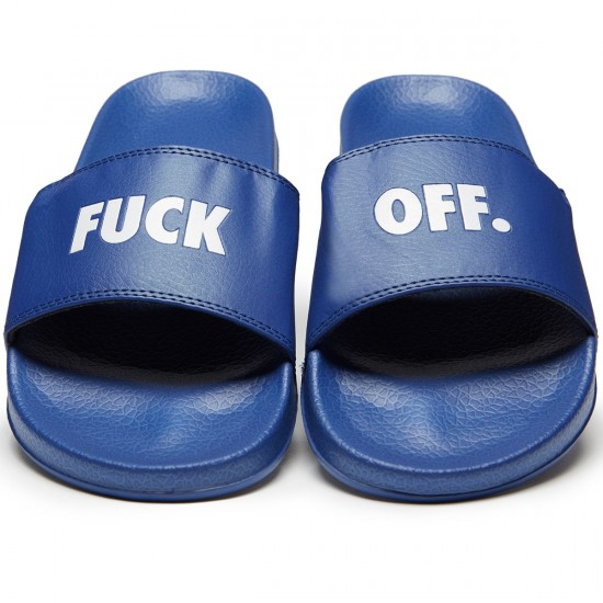 Raised By Wolves Fuck Off Slides - Blue - 7.0