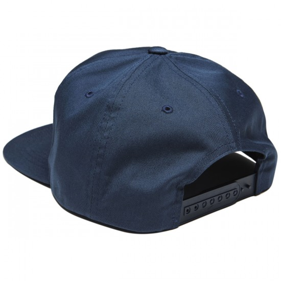 Lurk Hard Flag Logo 5 Panel Hat - Navy