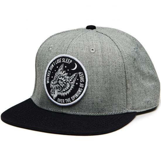 Sketchy Tank Opinions Snap Back Hat - Heather Grey