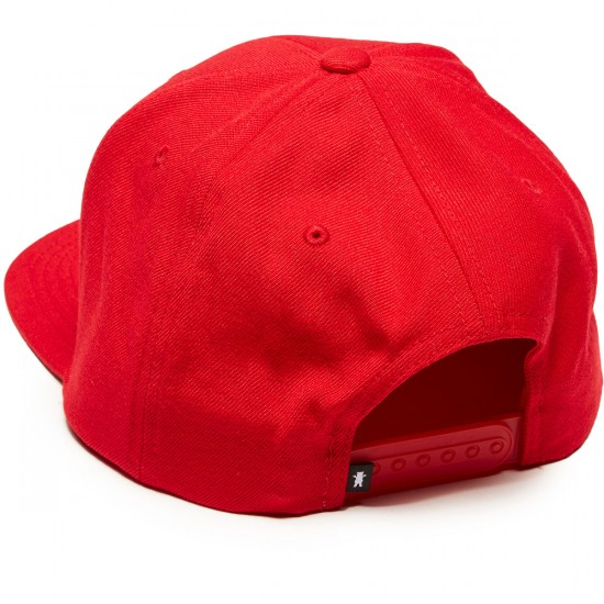 Grizzly X Spiderman Snapback Hat - Red