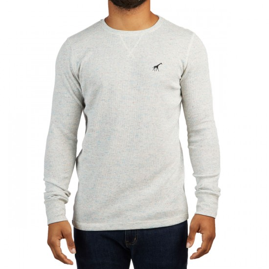 LRG Research Longsleeve Thermal Shirt - Ash Heather