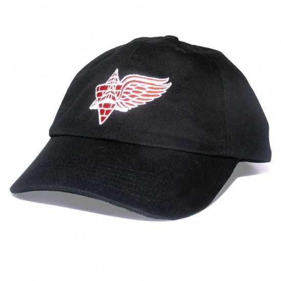 Pyramid Country Wings Hat - Black/Red/White